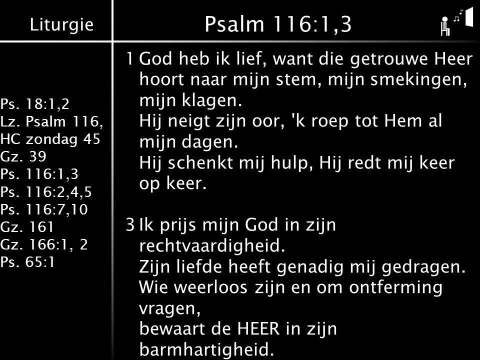 Psalm 116:1,3