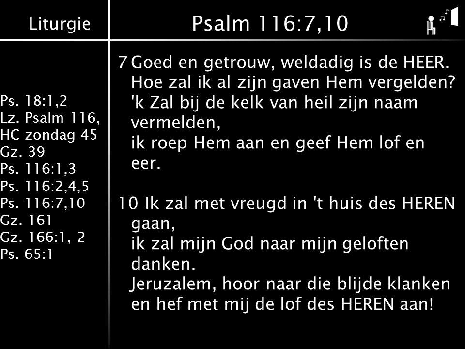 Psalm 116:7,10