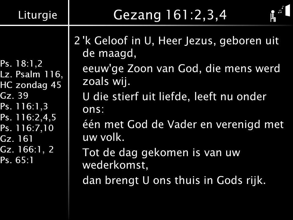 Gezang 161:2,3,4