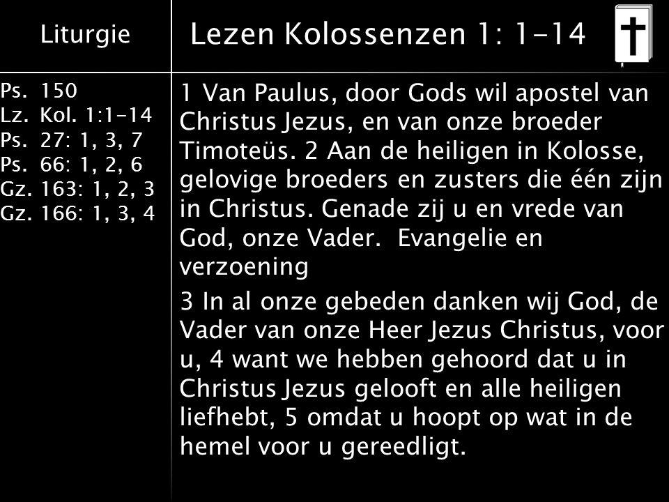 Lezen Kolossenzen 1: 1-14