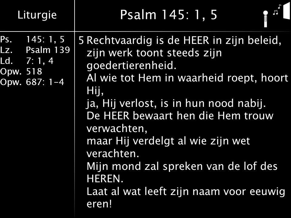 Psalm 145: 1, 5