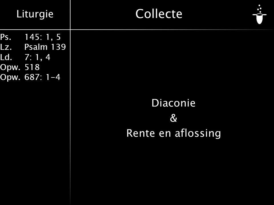 Diaconie & Rente en aflossing
