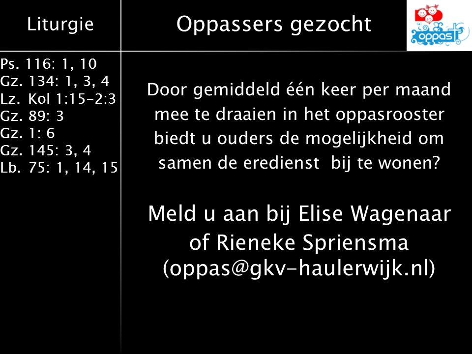 Meld u aan bij Elise Wagenaar