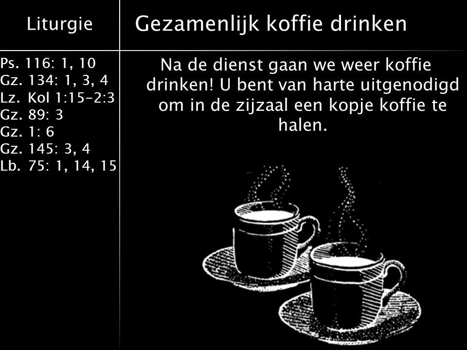Gezamenlijk koffie drinken