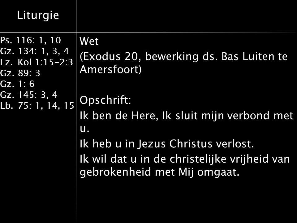 Wet (Exodus 20, bewerking ds