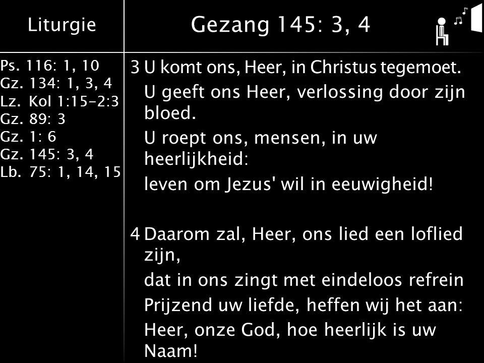 Gezang 145: 3, 4