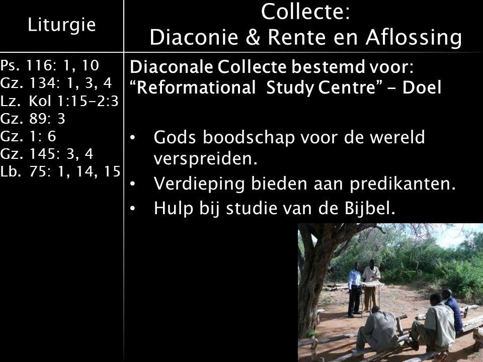 Collecte: Diaconie & Rente en Aflossing