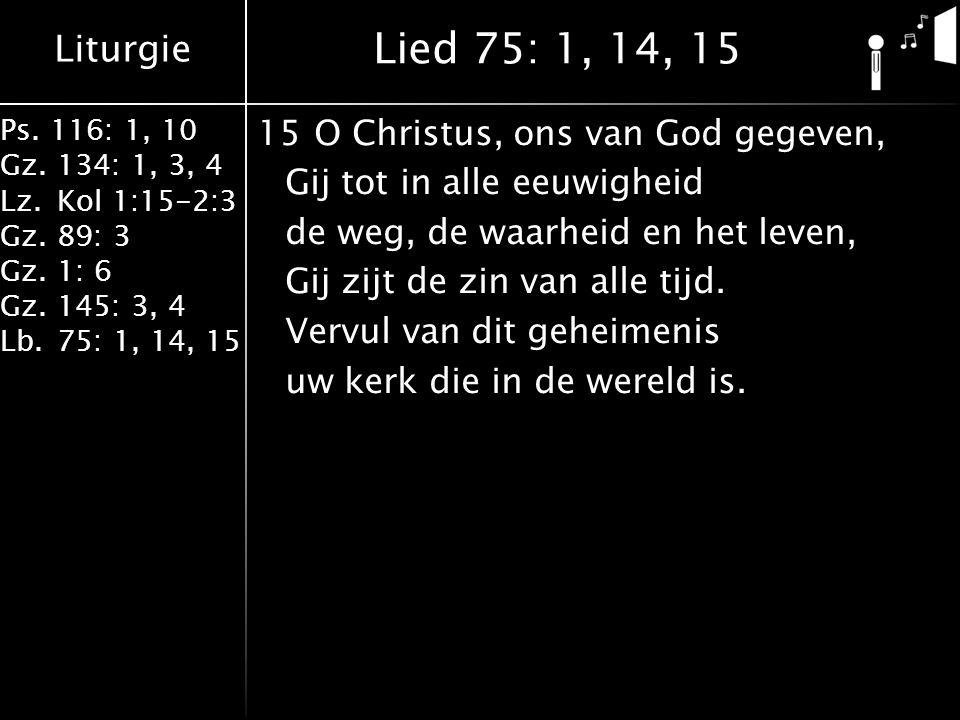Lied 75: 1, 14, 15