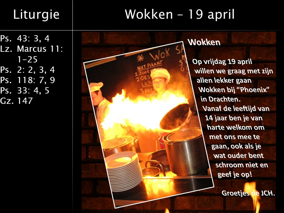 Wokken – 19 april