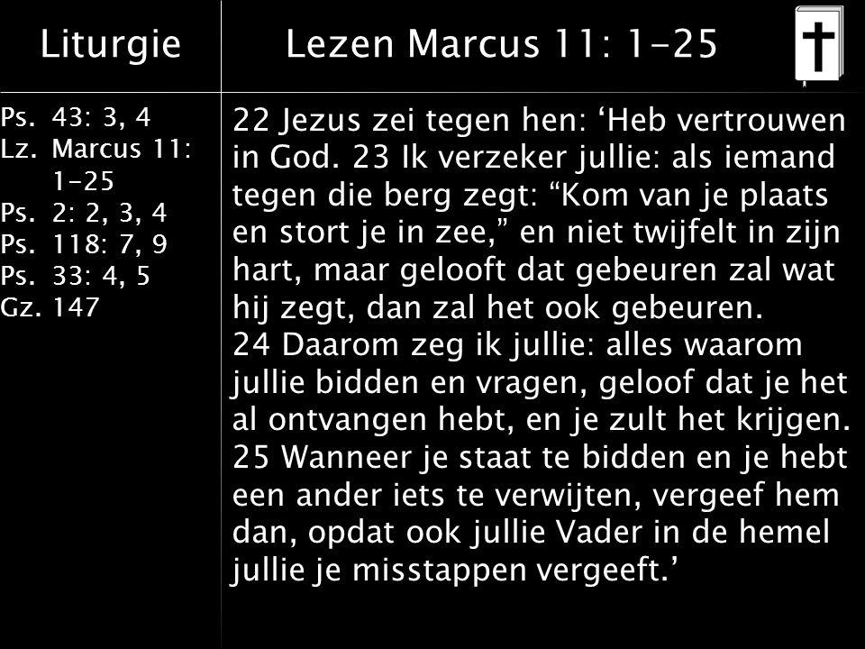 Lezen Marcus 11: 1-25