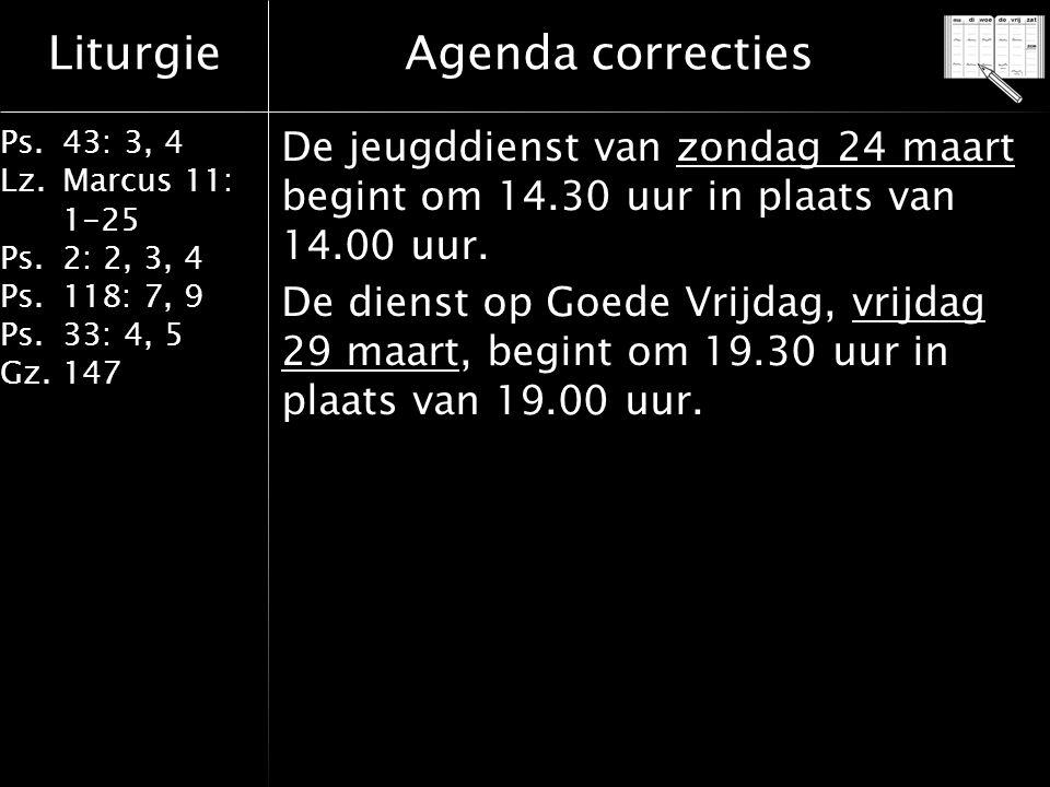 Agenda correcties