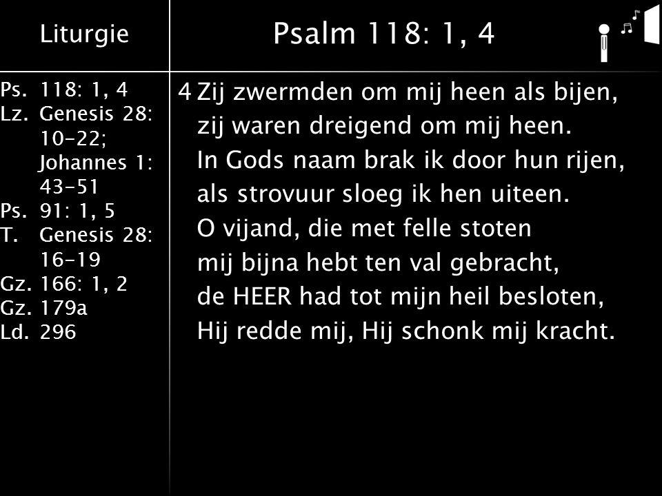 Psalm 118: 1, 4