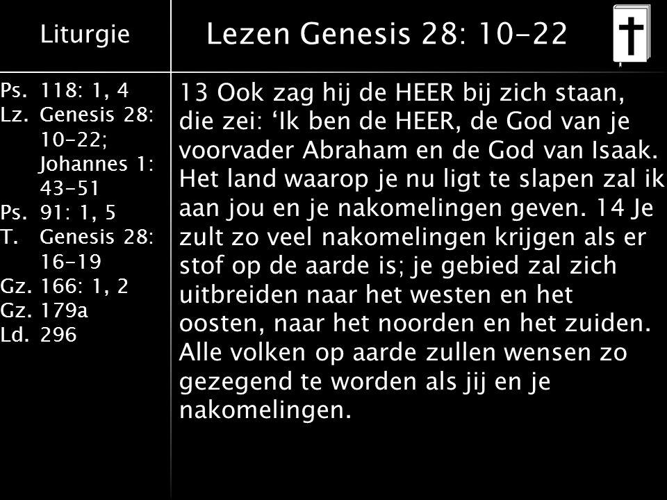 Lezen Genesis 28: 10-22