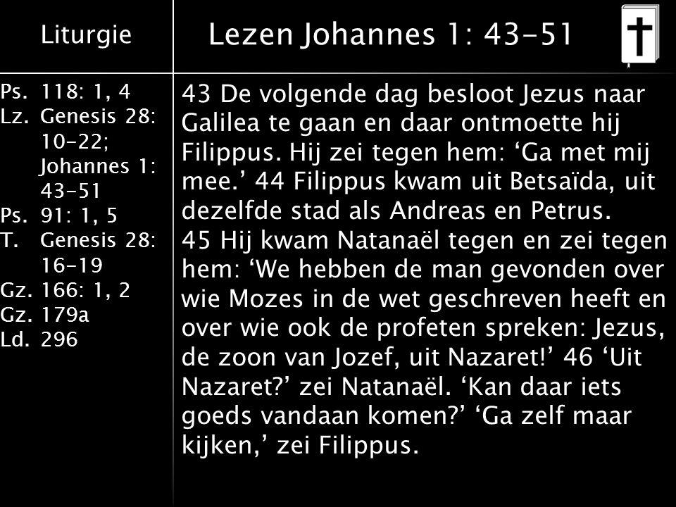 Lezen Johannes 1: 43-51