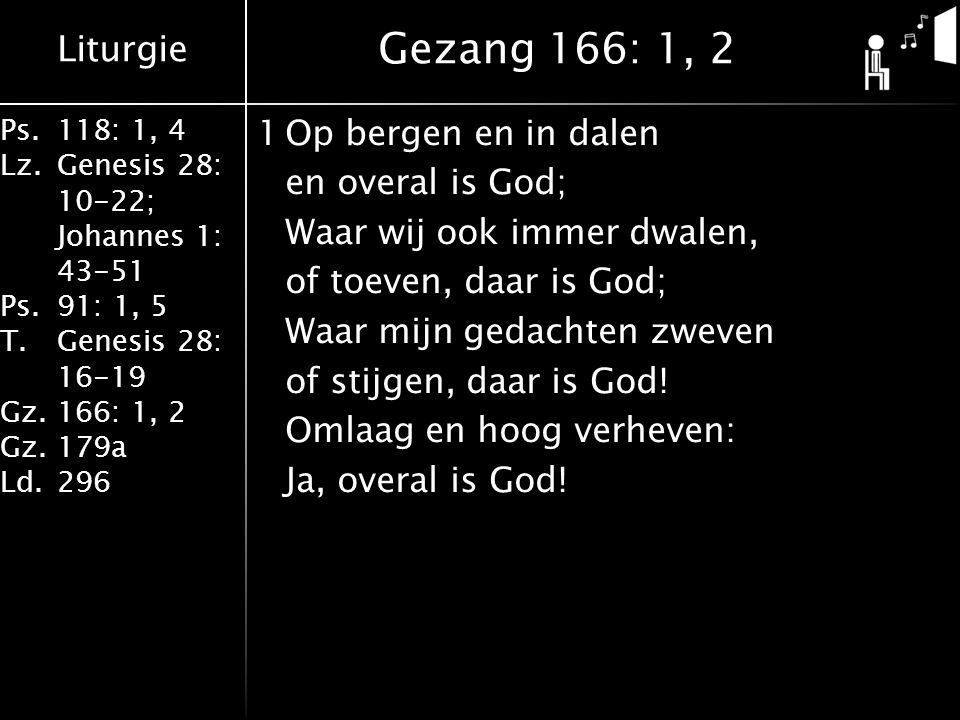 Gezang 166: 1, 2