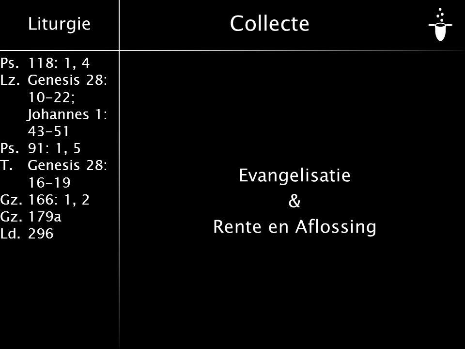 Evangelisatie & Rente en Aflossing
