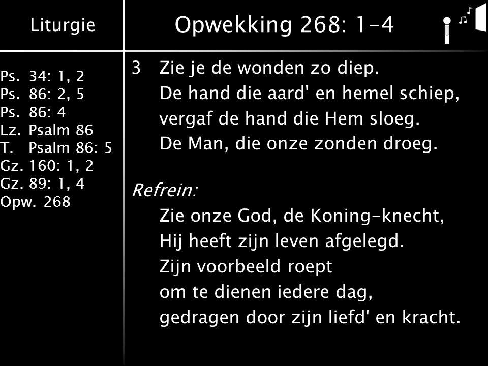 Opwekking 268: 1-4 3 Zie je de wonden zo diep.