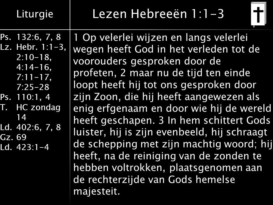 Lezen Hebreeën 1:1-3