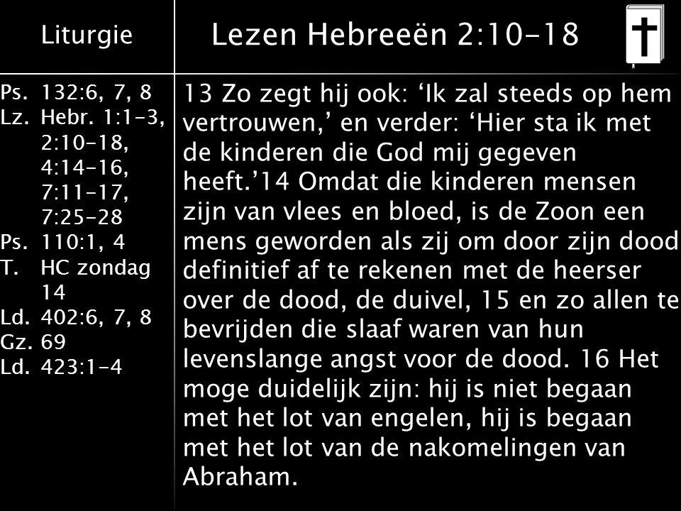 Lezen Hebreeën 2:10-18