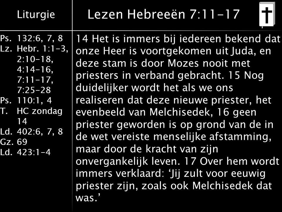 Lezen Hebreeën 7:11-17