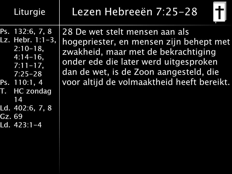 Lezen Hebreeën 7:25-28