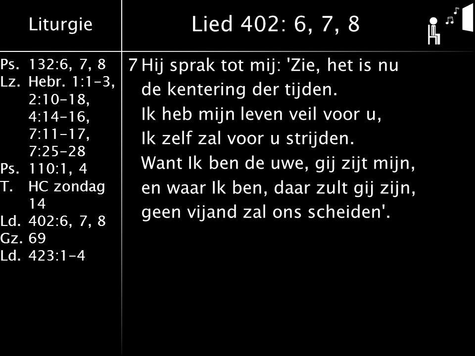 Lied 402: 6, 7, 8