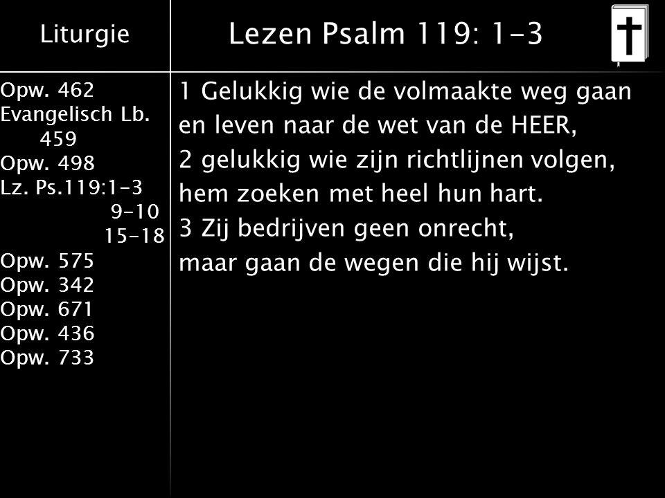 Lezen Psalm 119: 1-3