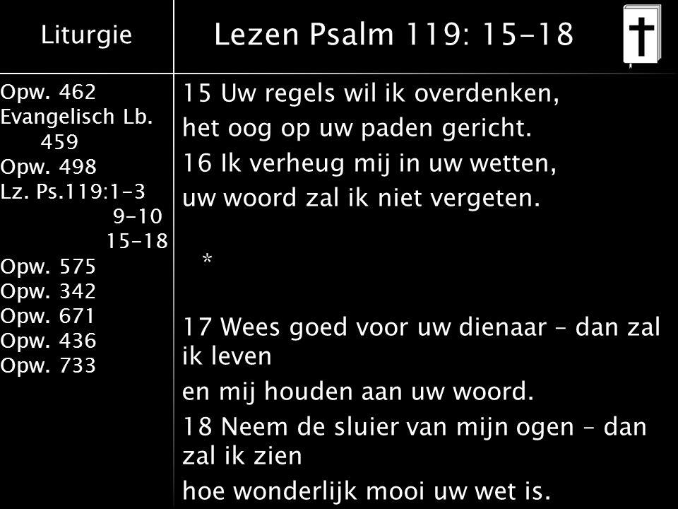 Lezen Psalm 119: 15-18