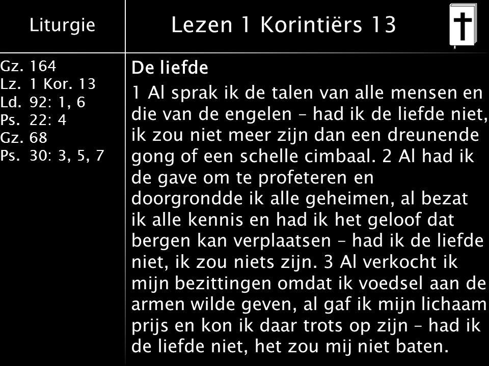 Lezen 1 Korintiërs 13