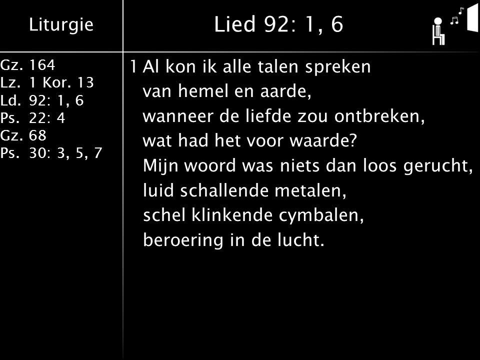Lied 92: 1, 6