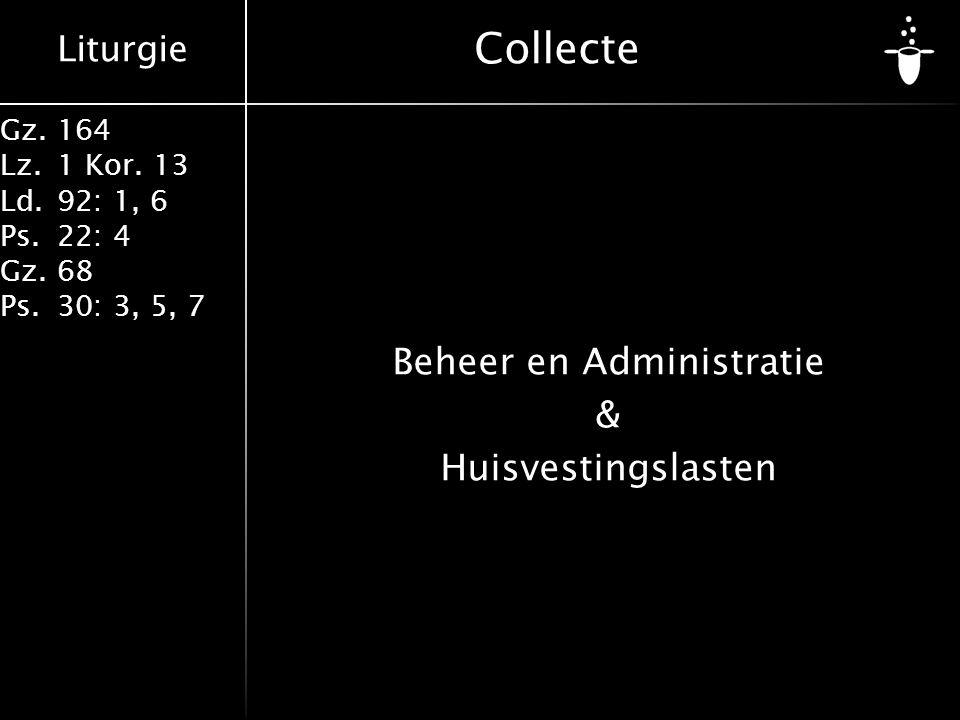 Beheer en Administratie & Huisvestingslasten