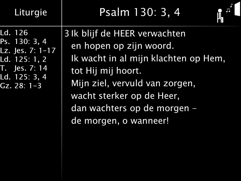 Psalm 130: 3, 4