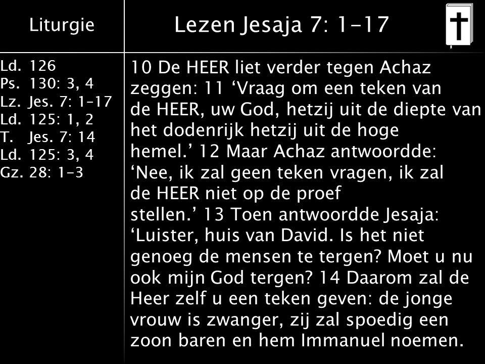 Lezen Jesaja 7: 1-17