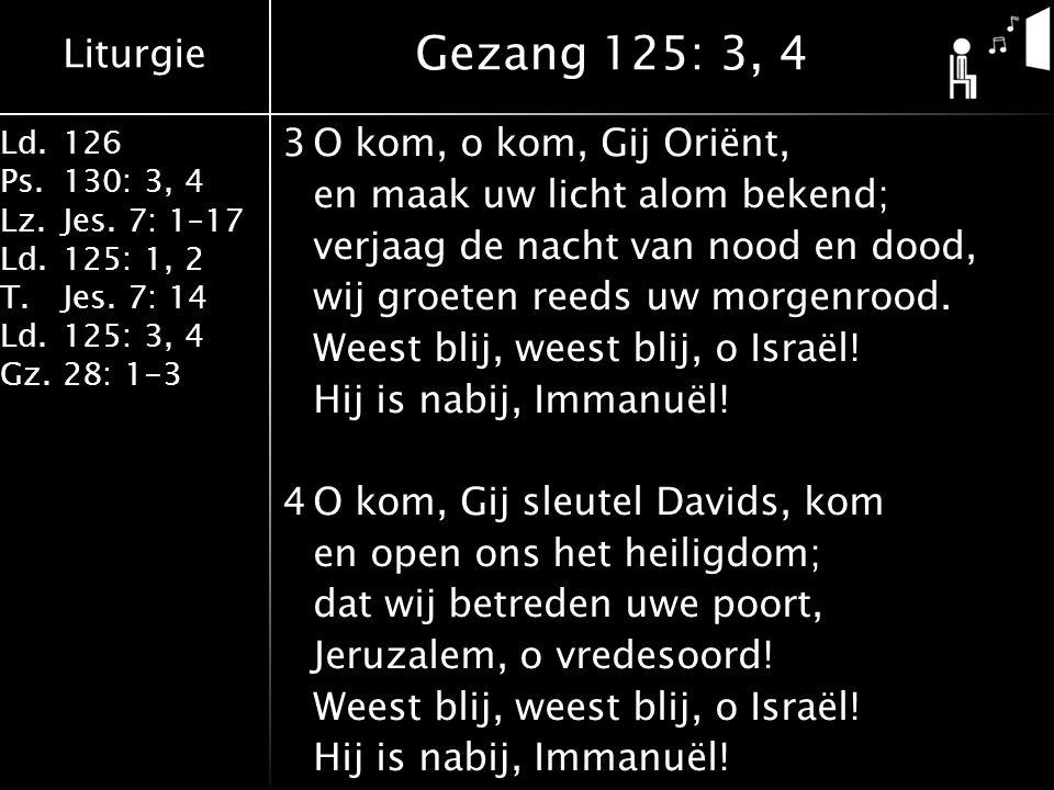 Gezang 125: 3, 4
