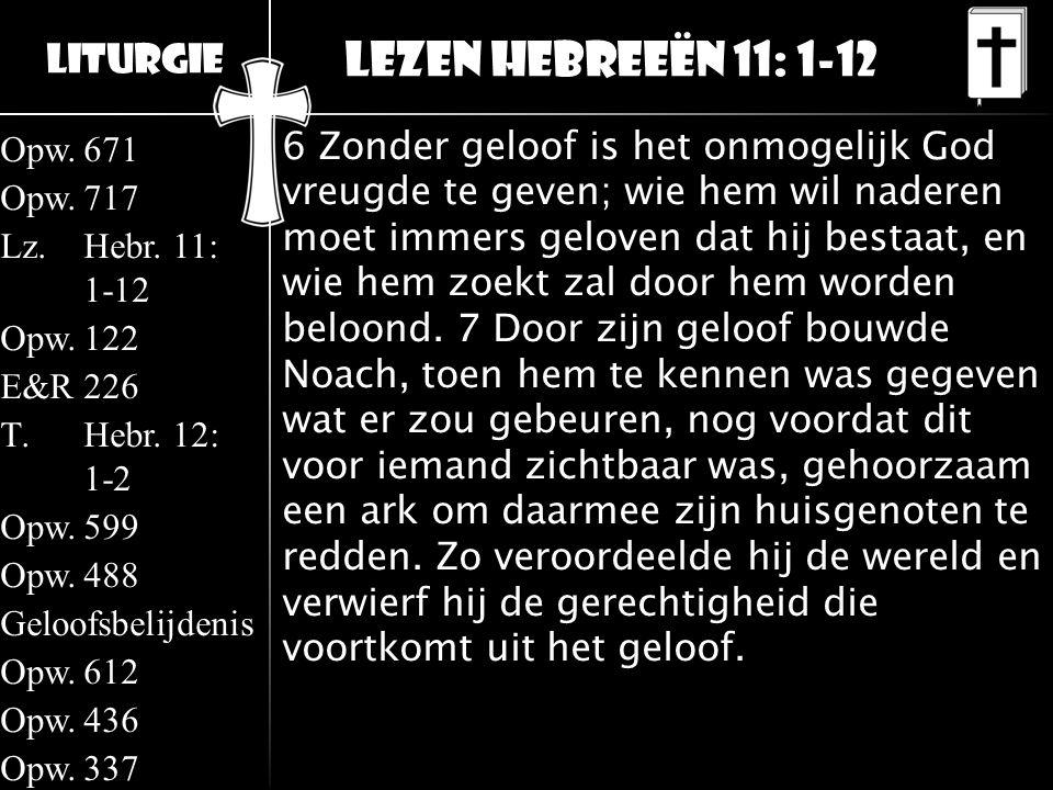 Lezen Hebreeën 11: 1-12