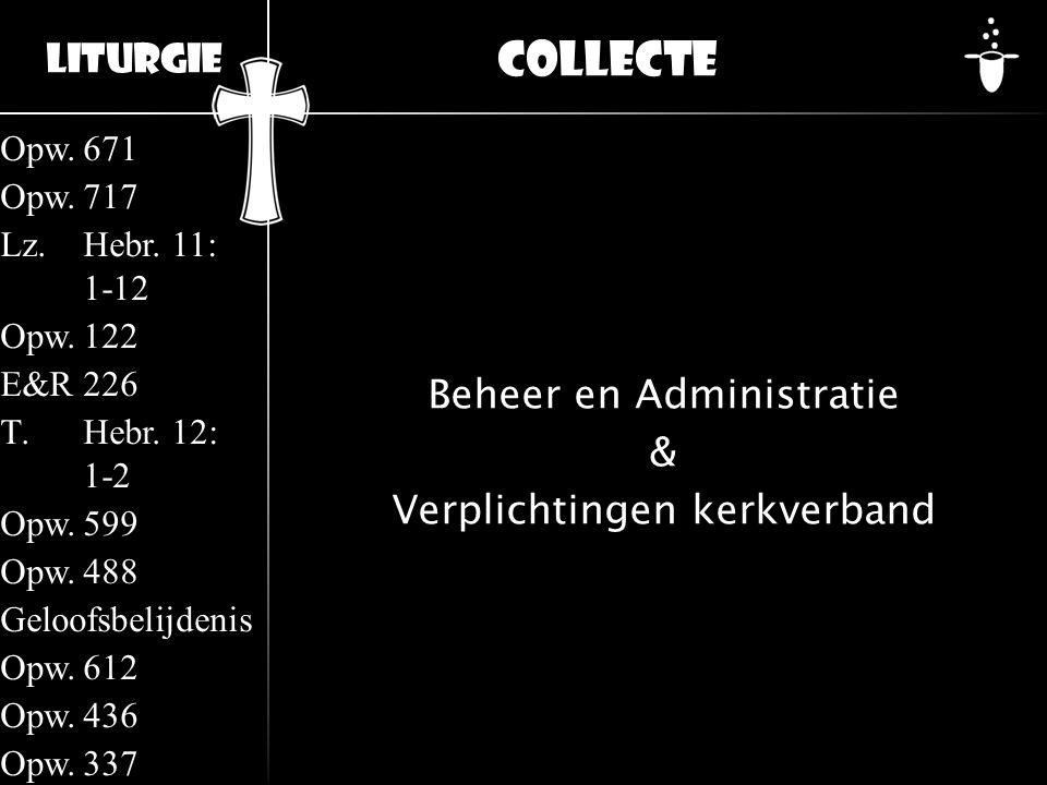 Beheer en Administratie & Verplichtingen kerkverband