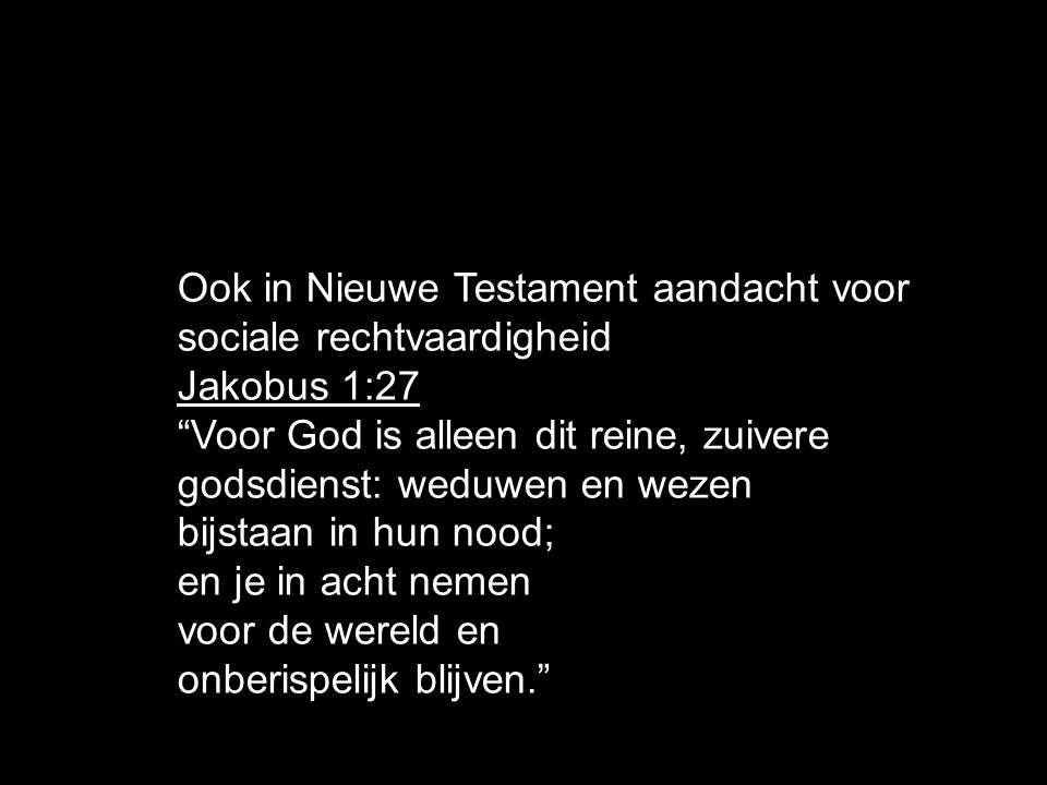 Ook in Nieuwe Testament aandacht voor sociale rechtvaardigheid