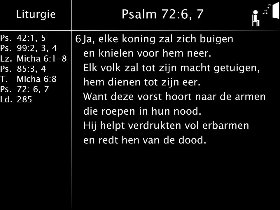 Psalm 72:6, 7