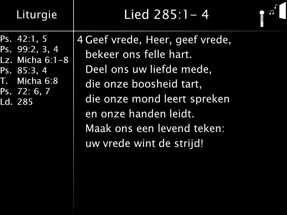 Lied 285:1- 4