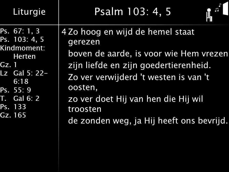 Psalm 103: 4, 5