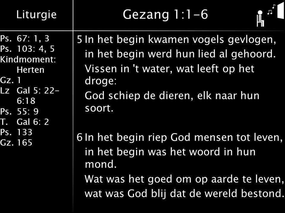 Gezang 1:1-6