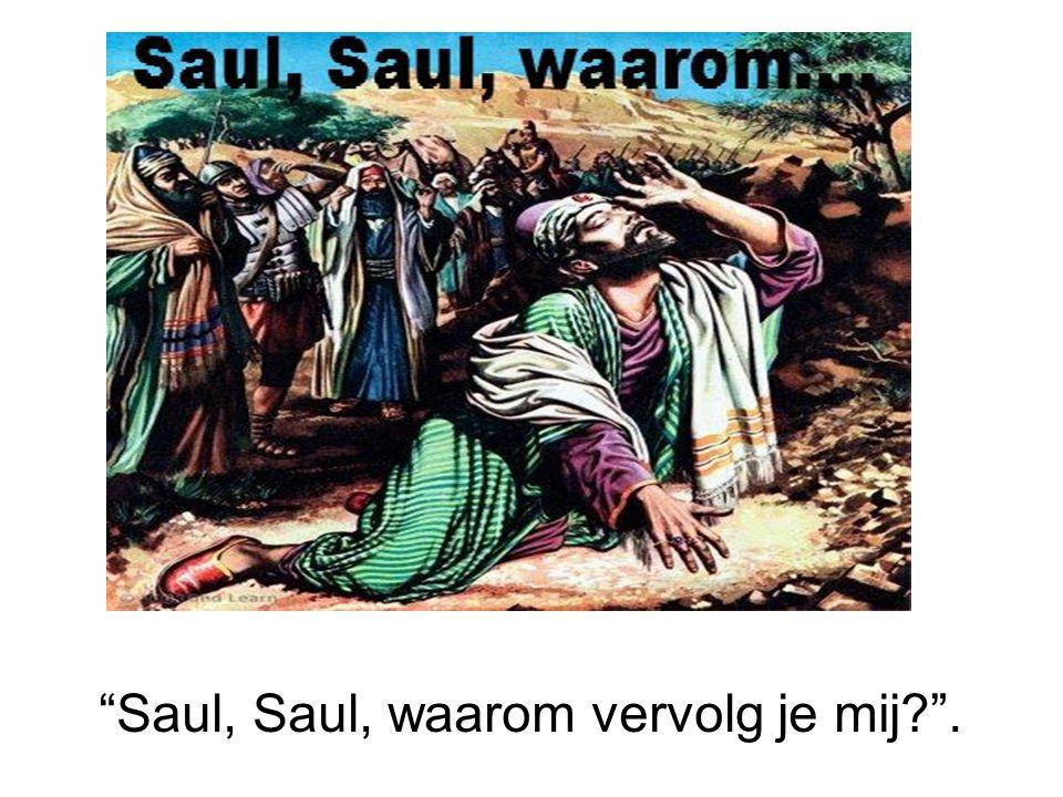 Saul, Saul, waarom vervolg je mij .