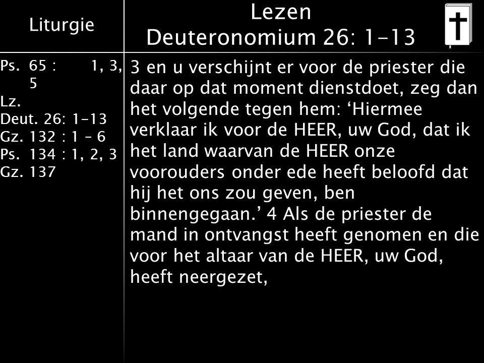 Lezen Deuteronomium 26: 1-13