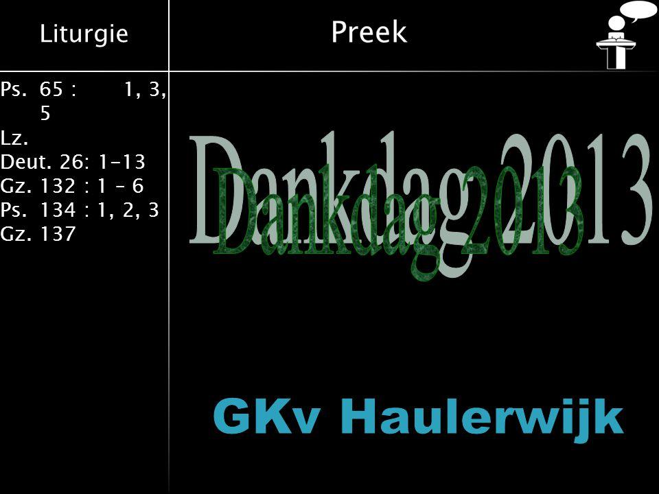 Dankdag 2013 GKv Haulerwijk