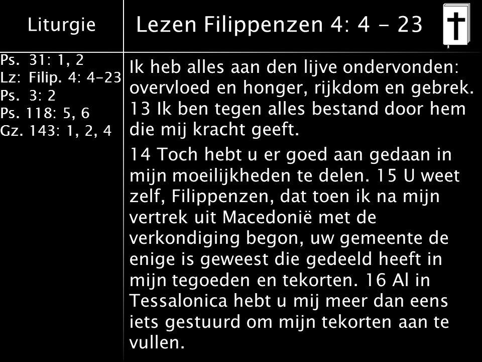 Lezen Filippenzen 4: 4 - 23
