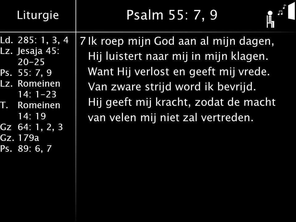 Psalm 55: 7, 9