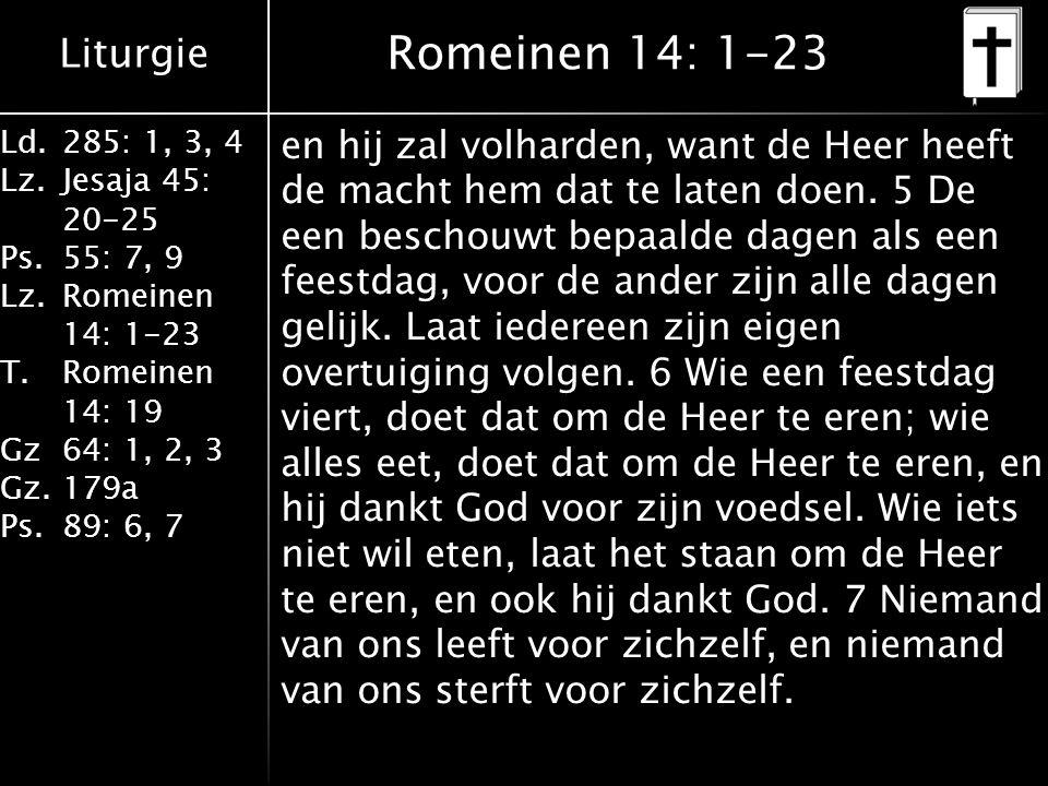 Romeinen 14: 1-23