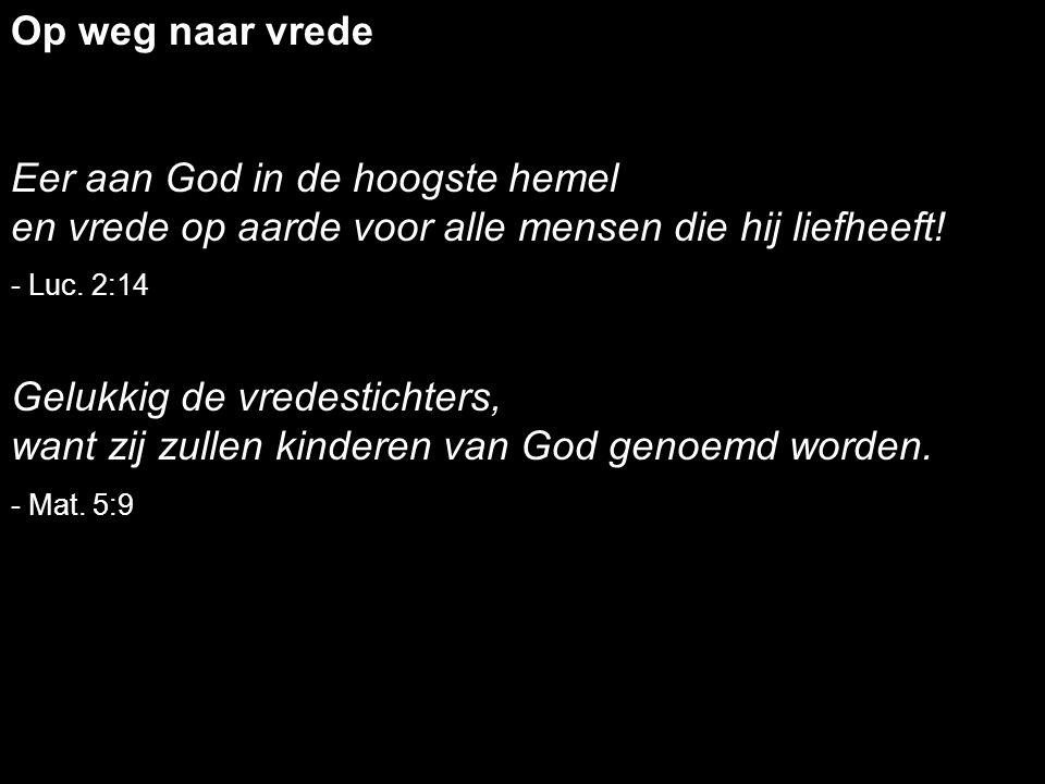 Eer aan God in de hoogste hemel