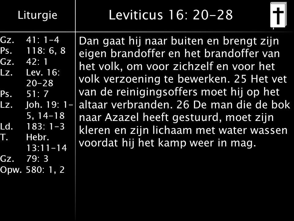 Leviticus 16: 20-28