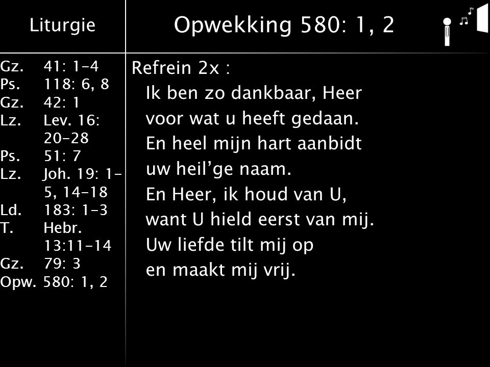 Opwekking 580: 1, 2